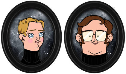 Tim and Eric portraits by chunkysmurf