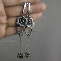 SOMETIMES - wrapped earrings by AnnaMroczek