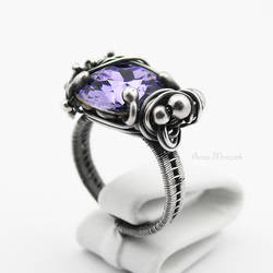 Violet Diamond - wrapped ring by AnnaMroczek