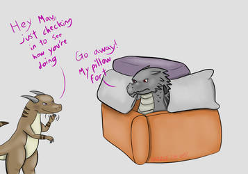 MavPillowFort! by RazzleTheRed