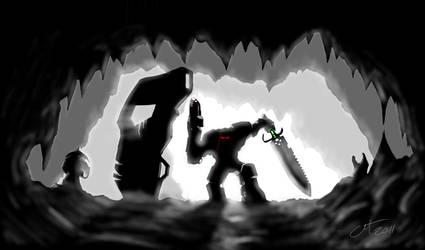 Dragon Slayer: Into the lair. by DesertFox85