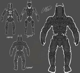 Armor Frame Guts Equals Robot by DesertFox85