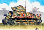 WWII French Tank by Frohickey