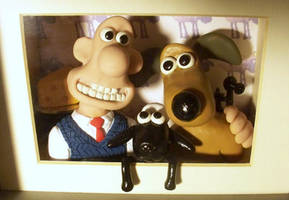 Wallace and Gromit Sculpture by Frohickey