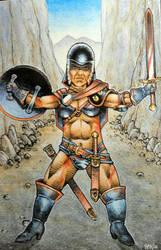 Female Dwarf Warrior 1 by Frohickey