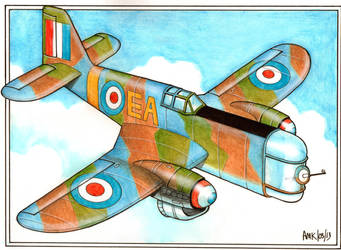 Fictional British WWII Fighter Plane by Frohickey