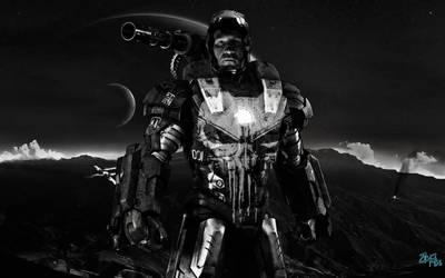 The Punisher [War Machine Armor] by Jedimasterhulk
