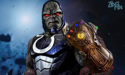 Darkseid with the Infinity Gauntlet (ThanoSeid) by Jedimasterhulk