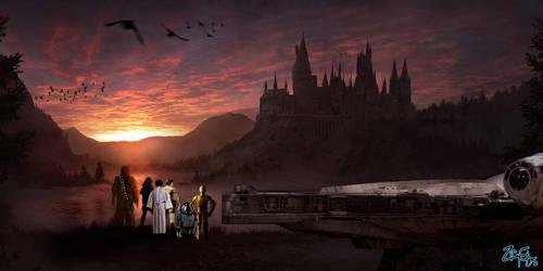 Star Wars X Harry Potter - The rebels Land outside by Jedimasterhulk