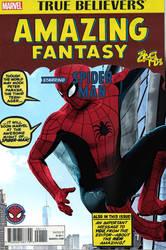 Amazing Fantasy 15 cover live action reimagining by Jedimasterhulk