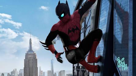 Spider-Bat  (Eric Guzman Marvel/DC Mashup) by Jedimasterhulk