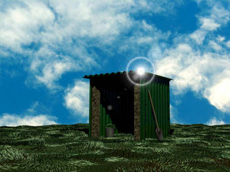 Lonely Shed on hill by ormus
