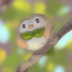 rowlet wip by KittyCouch