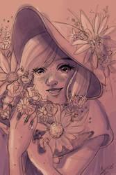 Flowers Sketch by Monique--Renee