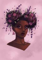 Lavender Portrait by Monique--Renee