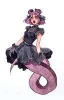 Goth Mermaid MerMay Day 3 by Monique--Renee
