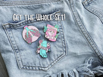 Chronically Cute Pins ON SALE NOW by Monique--Renee