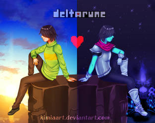 Deltarune - two world by KimiaArt