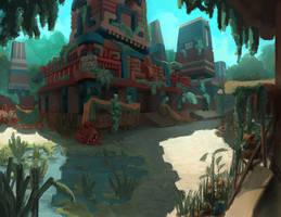 Mayan Ruins by portablecity