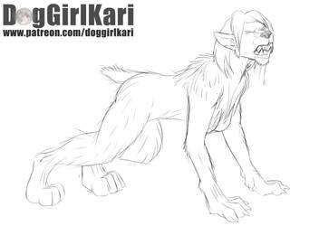 Nearly Complete (Girl Werewolf TF) by DogGirlKari