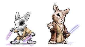 Jedi Bunnies by RokaShotar