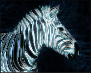 Fractal Zebra Wallpaper by PimArt