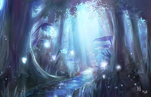 fantasy forest by melissa1412