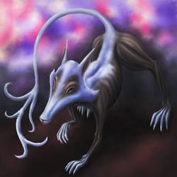 Canine deity by My-Oniric-Dimension