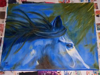 Blue Horse by FeyPhilosophy