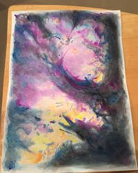 Abstract Watercolor by FeyPhilosophy