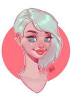 Simple girl portrait by Amethylia