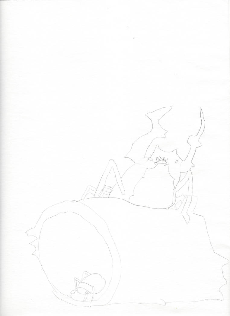 Beetle On A Log by jnekomimi