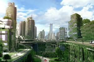Eco city by zearz