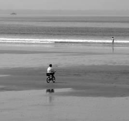 sky ocean earth bicycle by BukEye