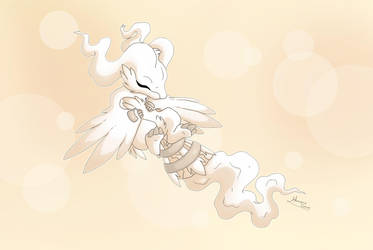 Sleeping Reshiram by Almairis