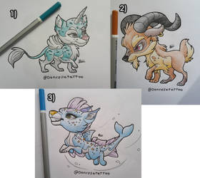 [OPEN] Hybrid Puppies Adoptables by Almairis