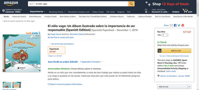 My book The Lazy Kid is on Amazon!! by Almairis