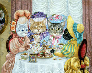 Purrfect Tea Party II by Rophar