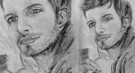 Ian somerhalder drawing by pinksov