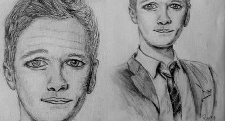 Barney Stinson drawing by pinksov