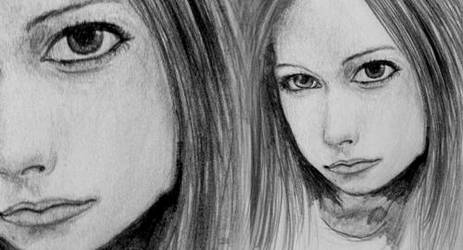 Avril Lavigne drawing by pinksov