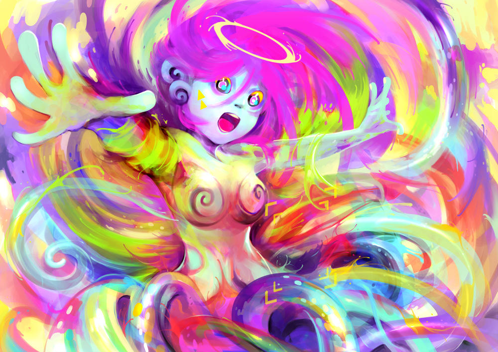 Little god creating new color. by narm