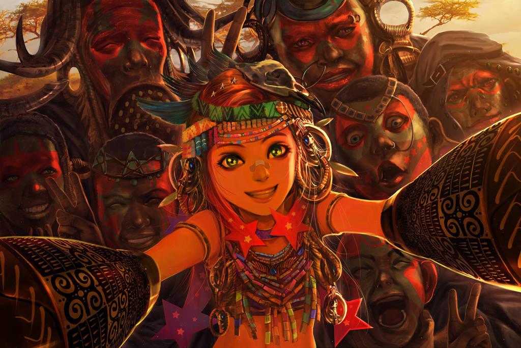 Starpunch Girl : World Tour Africa by narm