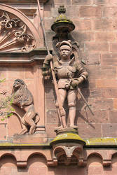 Heidelberg Castle: Gate Tower Knight I by rudiger51