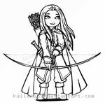 Ansenalein chibi lineart by Kaila-Rips