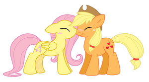 SiM: Applejack + Fluttershy by Selective-Yellow