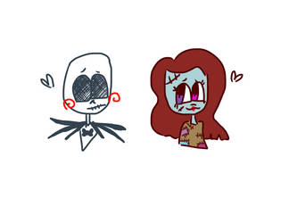 Jack and sally  by cuddlymeme