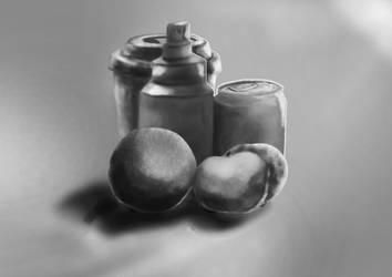 digital painting still-life by katamatic