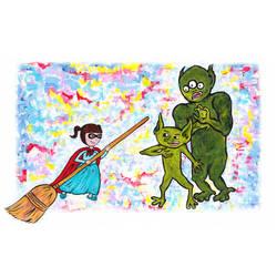 _goblin battle_ by attack-jack