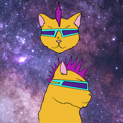 Spacey Punk Catz by attack-jack
